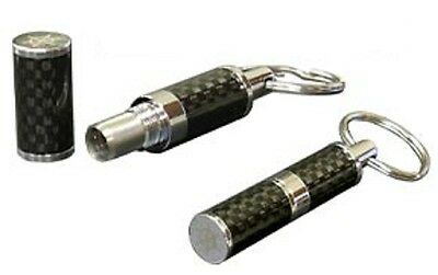 Carbon Fiber Cigar Cutter Bullet Punch Key Chain and Gift Box