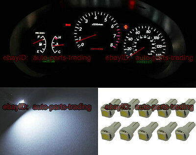 10 x White T5 73 74 1SMD LED Light Car Instrument Gauge Dashboard Bulbs 5001 5b