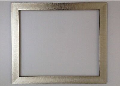 Modern Brushed Silver Frame Different Sizes Available