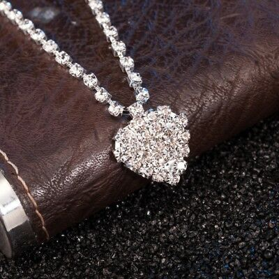 Diamante Rhinestone Anklet With Heart Ankle Chain Not Bracelet Brand New