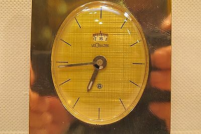 Vintage Art Deco LeCoultre 8 day Recital Swiss Alarm Clock