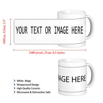 Personalised Mug Cup Custom Gift Your Image Photo & Text & Design Printed Safe
