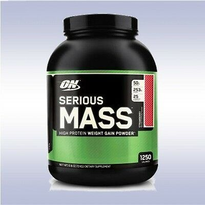 OPTIMUM NUTRITION SERIOUS MASS (6 LB) weight gainer plus creatine glutamine on