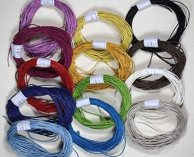 Hemp Cord  Lighly waxed Twine 10 Metre LOOSE x1MM   Crafts - Macrame -Labeling -