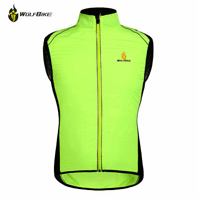 Reflective Lightweight Cycling Running Gilet Wind Resistant Hi Viz Safety Vest