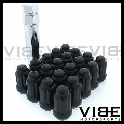 (20) 12X1.5 Black Spline Tuner Conical Drive Wheel Lug Nuts Quantity 20 With Key