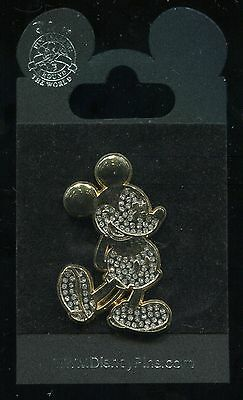 Mickey Mouse Jeweled Gold Finished Disney Pin 58529