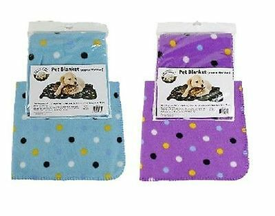 New Pet Dog Cat Puppy Kitten Animal Soft Fleece Blanket Free Uk P&p