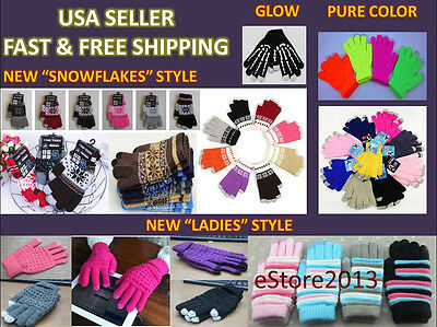 Magic Touch Screen Gloves SmartPhone Texting Winter Iglove Knit Stretch Unisex