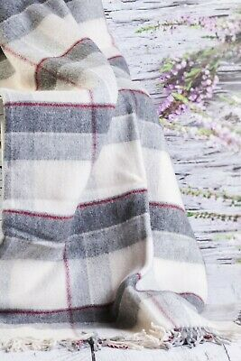 SALE Merino Wool Picnic Blanket / Throw 100% Wool Size Throw 160 x 200 cm  NEW