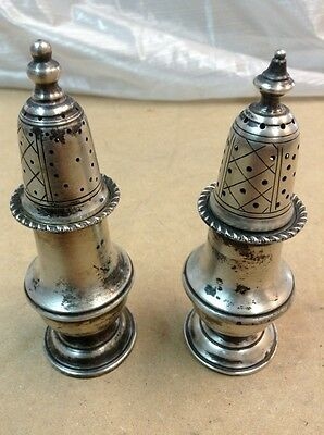 Antique Sterling silver salt and pepper shakers Total Of 4oz