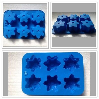 Silicone Snowflake 3D Fondant Mould Eco-friendly With 6 Moulds. Frozen Parties