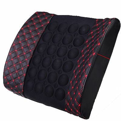 Mobility Massage Car Lumbar Support Cushion Auto Chair Vibration Seat Back Pad