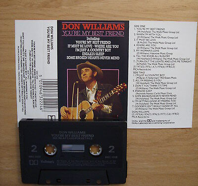 Don Williams You're My Best Friend Music Cassette Pickwick Label