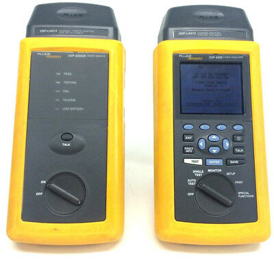 Fluke DSP-4300 Digital Cable Analyzer w/ DSP-4300SR  & other accessories