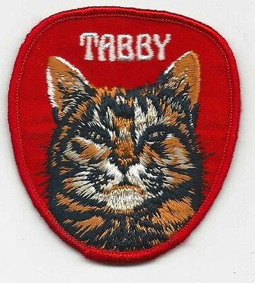 Tabby Cat Patch 3 Inches Long Size