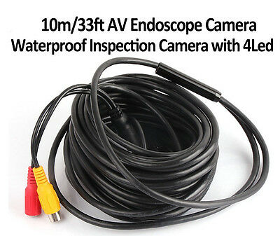 AV-IN LED Light Endoscope Waterproof IP66 Inspection Camera Borescope 10M
