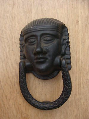 Antique Solid Metal Door Knocker Egyptian Head