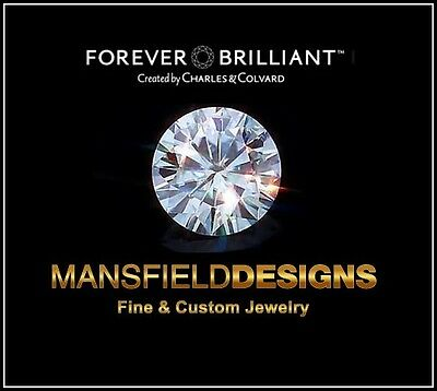 1.90 ct Loose Round Cut Forever Brilliant Moissanite by Charles & Colbard 8mm