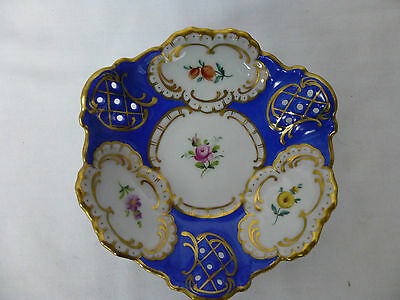 LINDNER,Dresden,Small, Hand Painted, Pierced Bowl