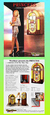PRINCESS, Wurlitzer Mini One More Time Advertising Flyer