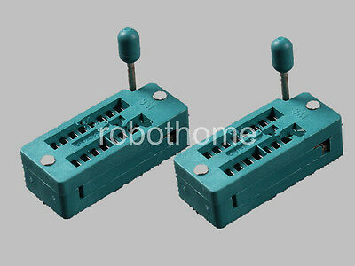 2PCS ZIF 16-pin 16 Pins Test Universal IC Socket brand new