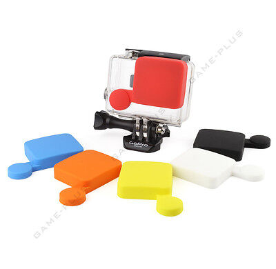 New Soft Silicone Protective Lens Cap Case Cover For GoPro Hero 3+ Hero 4 Camera
