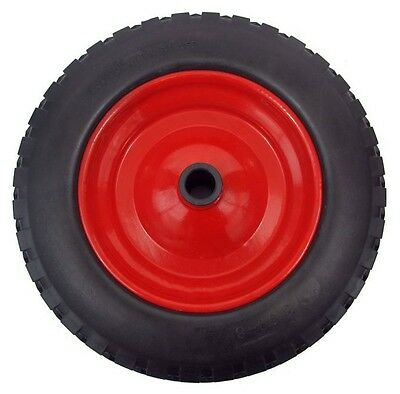 "PU 14"" METAL Puncture Proof Wheel Barrow Tyre 3.50 - 8 Light foam WITH 1"" BORE"