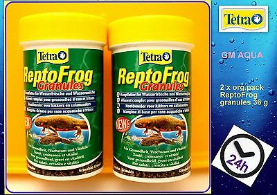 2 x Tetra Reptomin ReptoFrog Granules 36g Frog Newt Food - 1st class postage