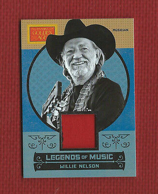 WILLIE NELSON 2014 Golden Age Relic PIECE OF SHIRT Worn by Willie Nelson
