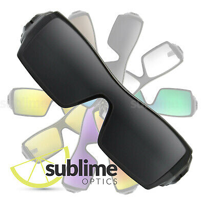 POLARIZED Black (Dark Grey) Replacement Lenses For Oakley Oil Rig ~ charcoal
