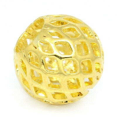 Wholesale Lots European Charm Spacers Beads Hollow Lantern Gold Plated