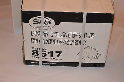 240 N95 Particulate Flatfold Respirators/masks! Sas Safety Corp! Niosh Approved!