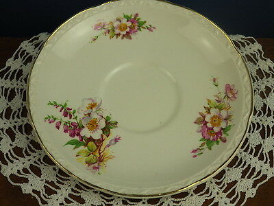"EMBOSSED ""BRIARDALE"" ROYAL FALCON WARE WEATHERBY 14.5cm SAUCER"
