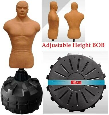New Adjustable Bob Human Xl Kick Boxing Punching Bag Mma Ufc Dummy Free Standing