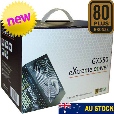 Cooler Power 550W ATX SATA Power Supply 80+ plus for Computer PC Case Tower PSU