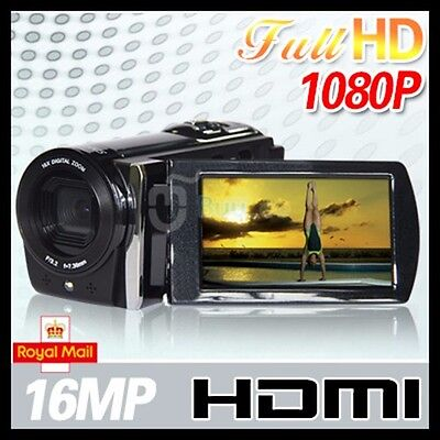 """New HD 1080P 16MP Camcorder Digital Video Camera 3.0"""" LCD 16x Zoom Antie_Shake"""