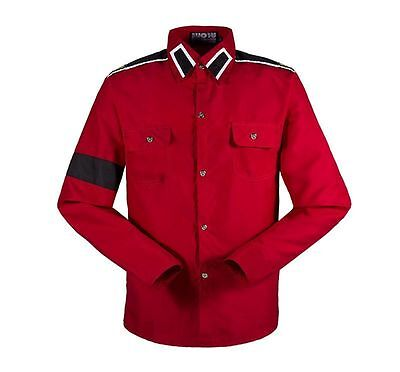 Michael Jackson CTE Style Shirt For MJ Fans Collection Red Casual Shirts