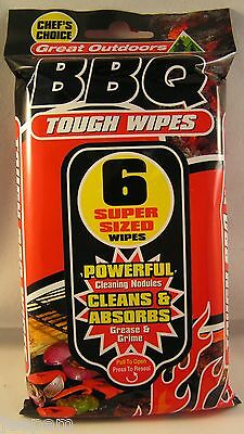 Heavy Duty Tough BBQ Wipes Disposable Barbeque Cleaning Cloths Grill Cleaners