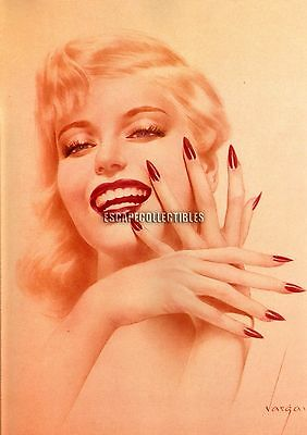 "Vargas Pin Up Girl Varga ""En Garde, Marilyn Monroe"" Laughing Eyes 12X17 Print"