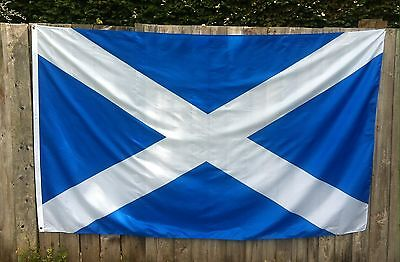 50 NEW NATIONAL FLAGS OF SCOTLAND ST ANDREWS SALTIRE 8 ft x 5 ft Polyester