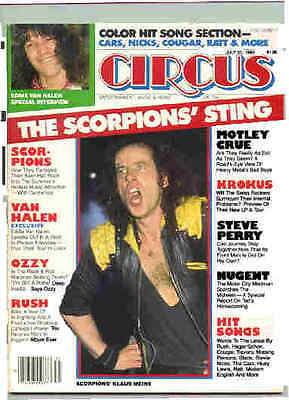 Scorpions Circus .Magazine From July 1984 (Meine Cover)