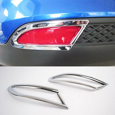 Fit For 2012-2014 Ford Focus Mk3 Hatchback Chrome Rear Fog Light Lamp Cover Trim