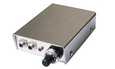 SILVER PROFESSIONAL TATTOO POWER SUPPLY for machine gun pedal & clip cord UK