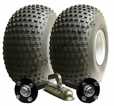 Large wheel ATV trailer kit - Quad trailer - wheels + hub / stub + hitch, 485kg