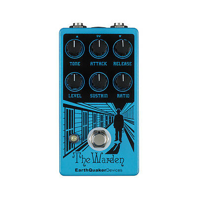 EarthQuaker Devices The Warden Optical Compressor Guitar Effect Pedal - New!