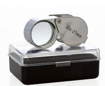 30x ZOOM Jewellery / Tattoo Needle Eye Loupe Magnifying Glass Lens