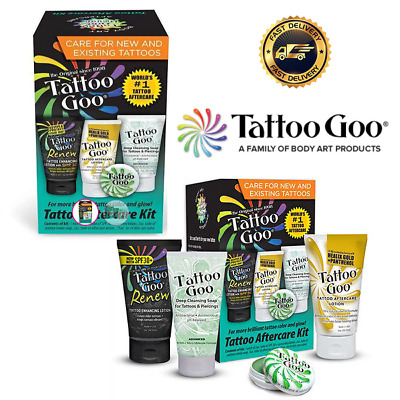 4 in 1 TATTOO GOO AFTERCARE KIT . HEALING & PROTECTION