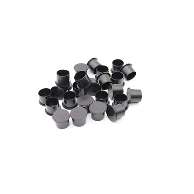 100 x 8mm SMALL TATTOO INK CUP / CAP clear . ALL SUPPLIES UK.