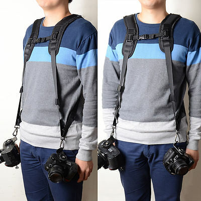 Professional Quick Double Shoulder Camera Belt Strap For Canon Nikon Sony